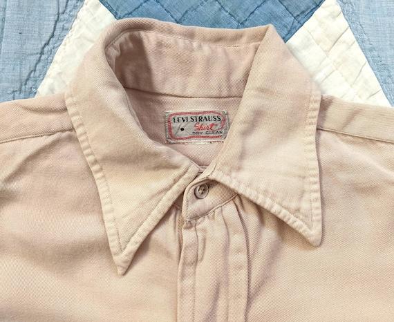 1940's Levi's Rayon Gabardine Shirt S Small Vintag