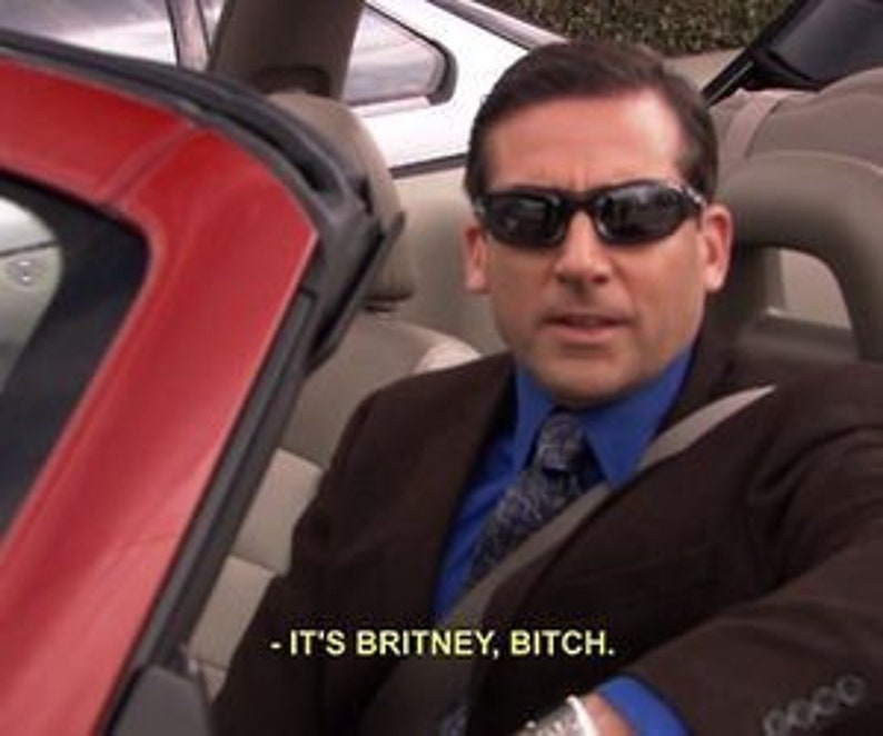 f22aeddf3 It's Britney Bitch T-Shirt Michael Scott The Office TV | Etsy