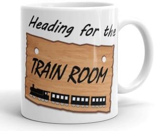 heading for the train room mug funny birthday gift christmas present model train railroad railway fan free postage in usa au ukandeu
