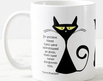 Katze Herz Monitor Ekg Linie Bild Rund Um Den Becher Cat Etsy