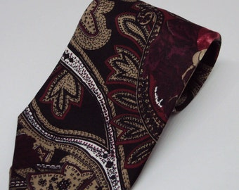 J. T. Beckett All Silk Paisley Vintage Men's Necktie