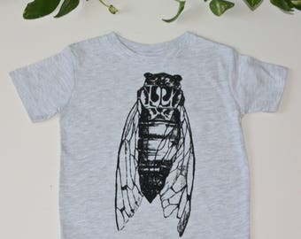 Kids Cicada bug shirt gray