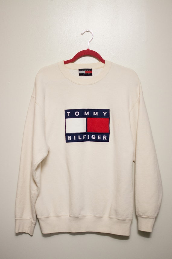 Vintage Tommy Hilfiger Crewneck w/ Large *Embroide