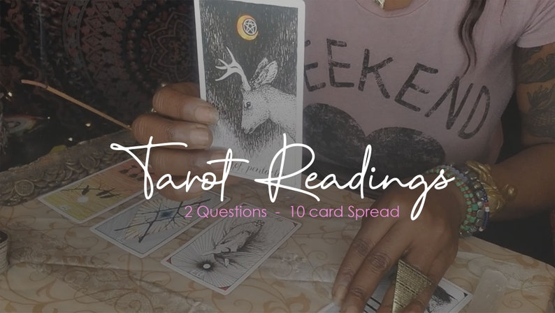Tarot Reading  2 Questions 10 Card Spread image 0