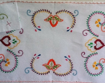 Embroidered Placemat and Napkin from Portugal