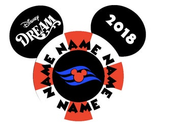 Personalized Disney Life Saver/Life Ring Mickey Inspired Magnet for Disney Cruise Decor with your Name