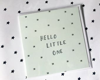 Hello Little One, New baby card, New girl card, New boy card, Baby Card,