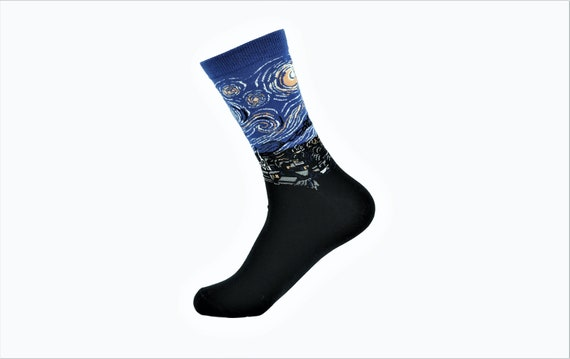 Personalized Starry Night By Van Gogh Socks by Etsy