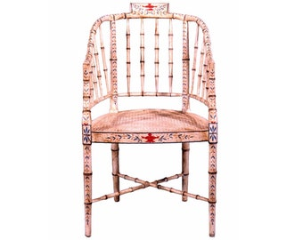 Chippendale Bamboo Cane seat