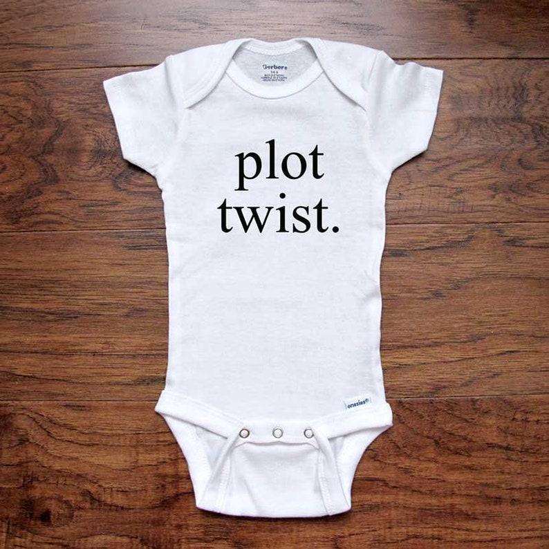 8f909d0e7 Funny baby onesie plot twist birth pregnancy announcement   Etsy
