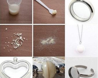 925 Silver DIY Breast milk keepsake Jewelry Breast milk necklace Starry Starry