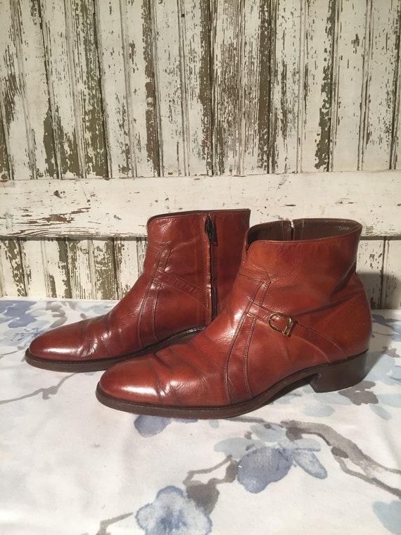 Vintage Florsheim Imperial Zip Up Beatle Boots men