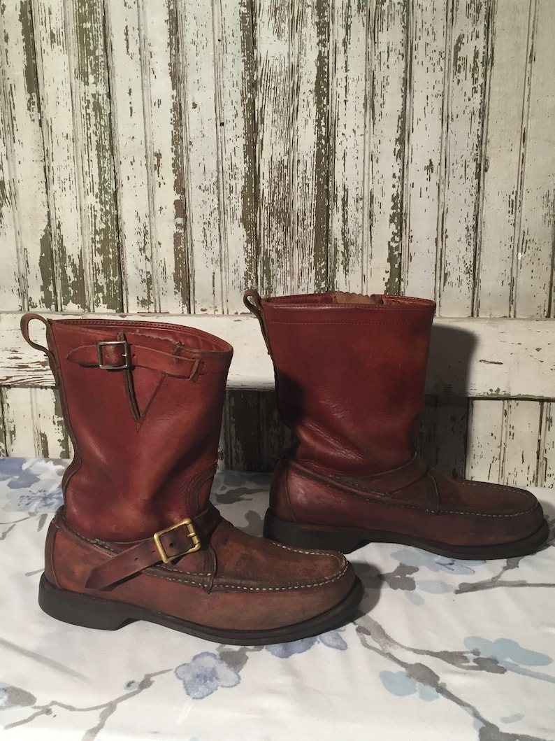 654a9dd3e95 Vintage Stafford Engineer, Motorcycle Boots men's size 7 1/2 d