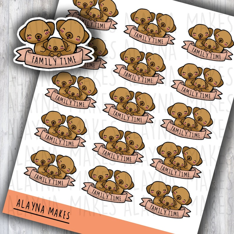 Alayna Makes Family Time Stickers  Bullet Journal Stickers  image 0