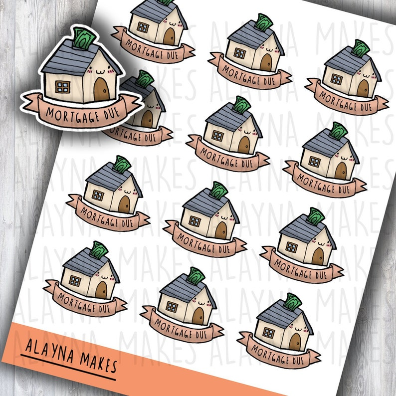 Alayna Makes Mortgage Stickers  Bullet Journal Stickers  image 0