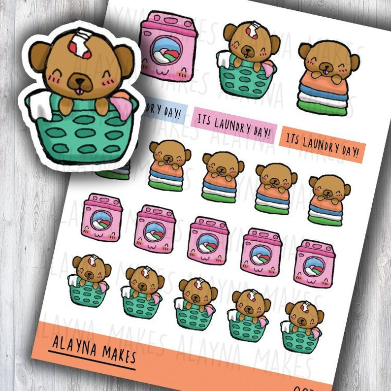Alayna Makes Laundry  Laundry Planner Stickers  Planner image 0