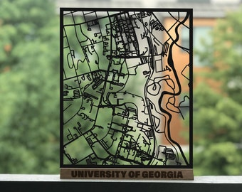 Uga Campus Map With Building Numbers.Uga Campus Map Etsy