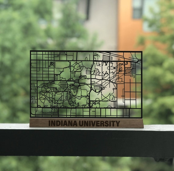 Indiana University Campus Cut Map   IU, Graduation Gift, Indiana, Hoosiers, on indiana state campus diagram, indiana institute of technology, indiana ball state university,