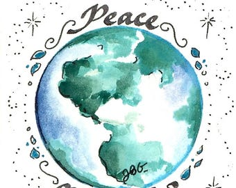 """Magnet - """"Peace on earth."""""""