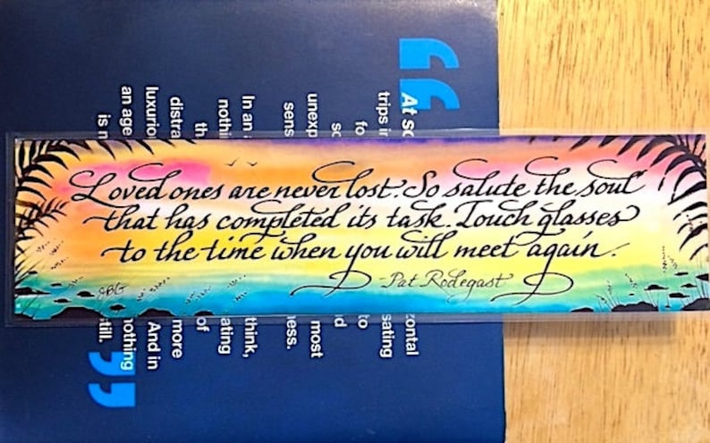 Watercolor bookmark custom bookmark death and loss grief image 0