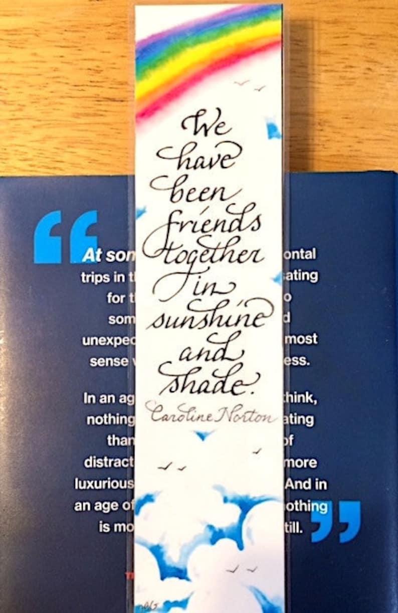 Watercolor bookmark custom bookmark We have been friends image 0