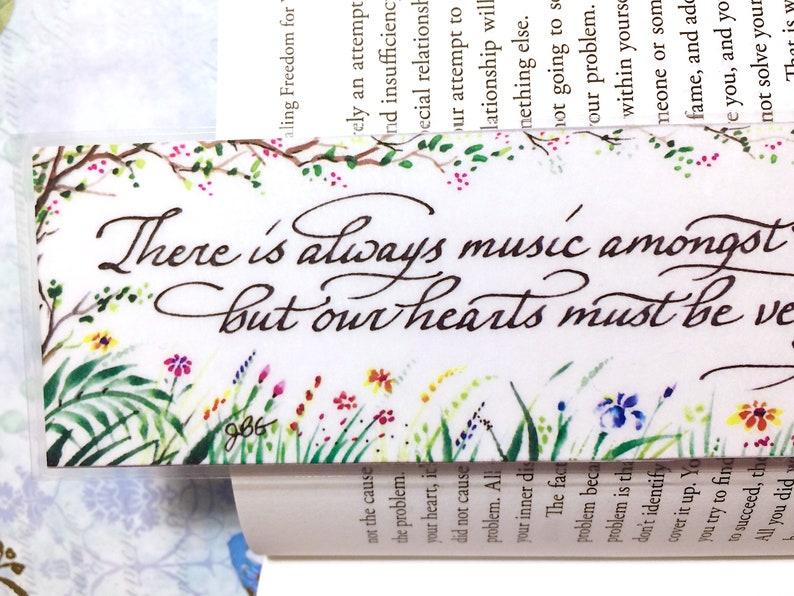 Watercolor bookmark custom bookmark book club gift teacher image 0