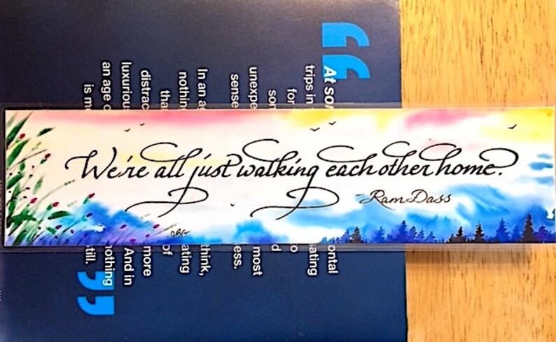 Watercolor bookmark custom bookmark Ram Dass book club image 0