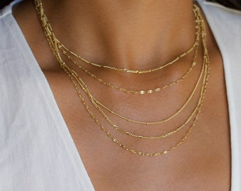 Multistrand Necklace, Multistrand Chain Necklace, Gold Necklace Dainty, Gold Necklace Set, Layered Necklace, Gold Chain Necklace