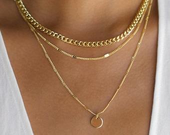 Delicate layered necklace set Minimalist Layered Jewelry Set 3 layer necklace Triple silver necklace set Set of three layering necklace