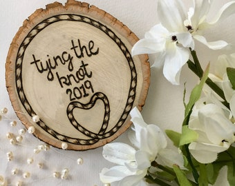 Tying the knot~ wedding gift~personalized magnet