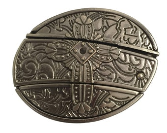 Cross Belt Buckle with Removable Craft Knife