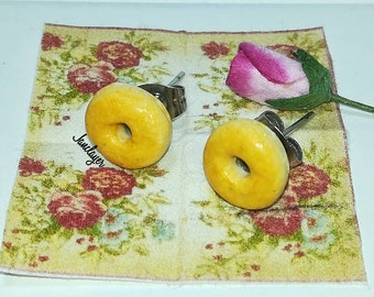 Miniature Donuts earrings glass/miniature donuts glass earrings