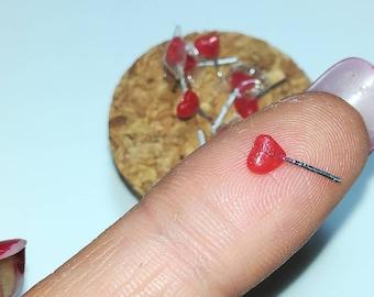 8 PCs miniature Heart Lollipop, 1/12 scale for doll houses/8pcs miniature Candy hearts, 1/13 scale for dollhouses