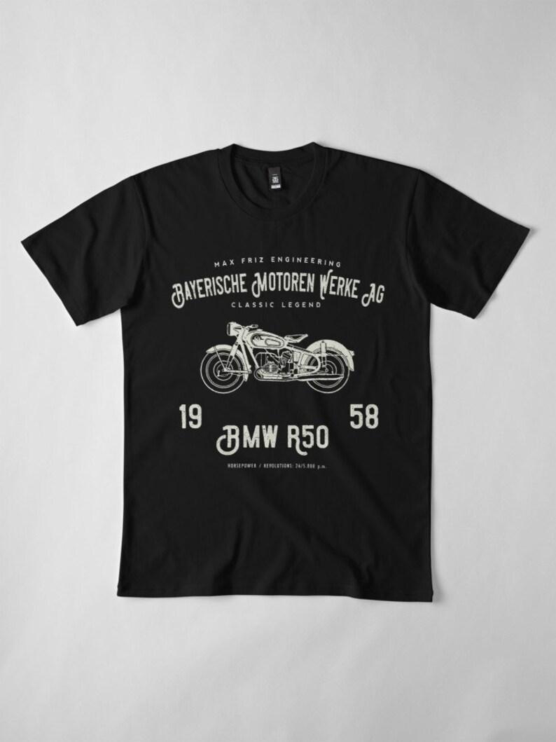 a628dcaa6644a Vintage BMW 1958 Motorcycle T Shirt Bayerische Motoren Werke