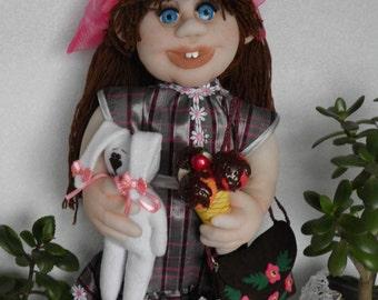 Textile doll, soft sculpture