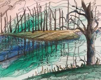 Watercolour Painting - Trust Reflection - #10