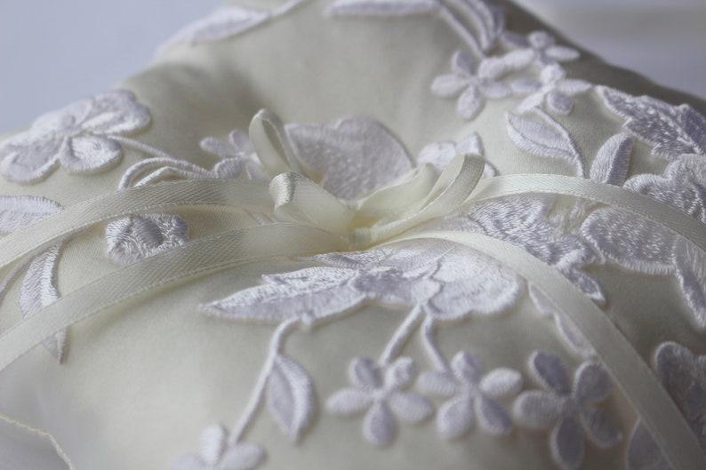 Ivory Ring Bearer Pillow Ivory Wedding Pillow