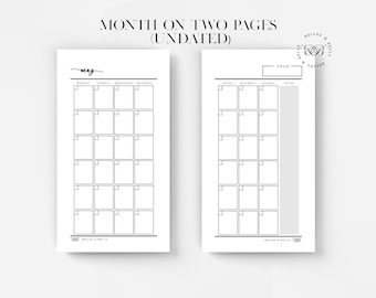 PRINTABLE Personal Planner Insert | Monthly Planner (Undated)