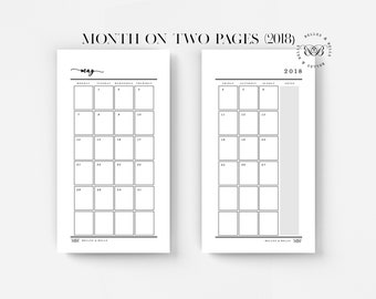 PRINTABLE Personal Planner Insert | Monthly Planner (2018)