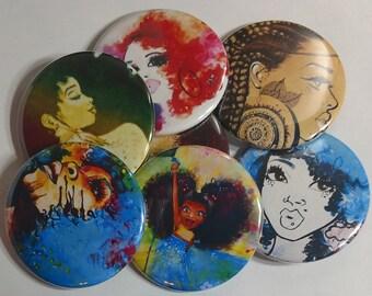 """Urban Art Buttons (2.25"""") (6 Button Set)"""