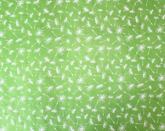 Handmade lokta paper green with white dandelions wrapping paper gift paper handicraft