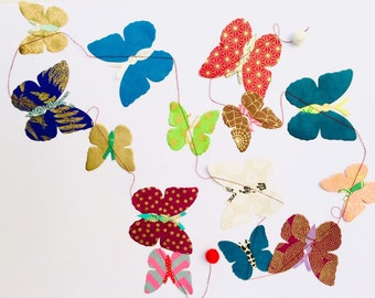 Garland lokta paper natural paper turtle colorful paper garland for children and friends