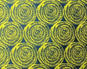 Lokta paper nepali paper blue with yellow circles