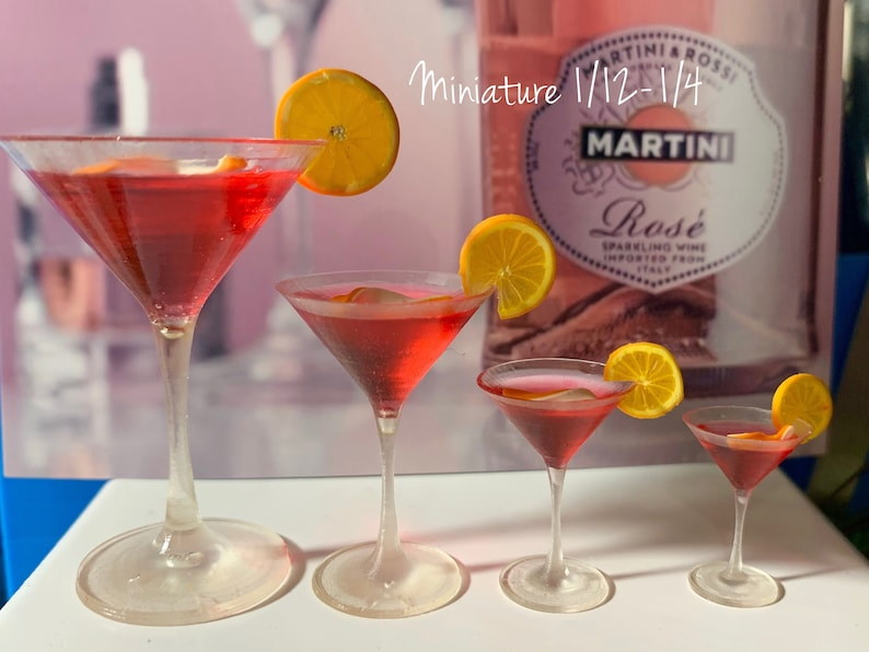 Dollhouse accessories 16 Scale 112 Miniature cocktail for dolls 15 14 18