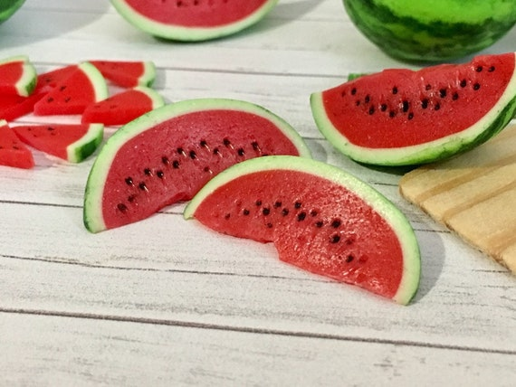Dollhouse Miniature Half Scale Cut Watermelon Fruit Bowl 1:24 Food