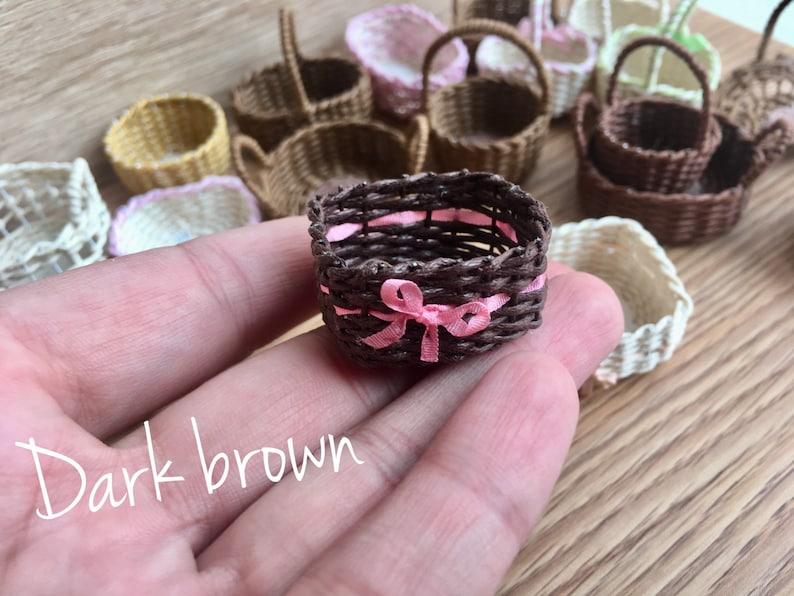 doll house Handmade. Basket wicker Miniature for dolls