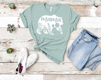 ba27163788ac2 Mama Bear Graphic Tee- Mama Bear T-Shirt- Mothers Day Gift- Gift for Moms-  Baby Shower Gift- Pregnancy Reveal