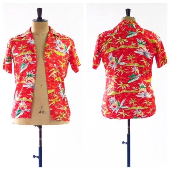 1950s National Sports Hawaiian Shirt