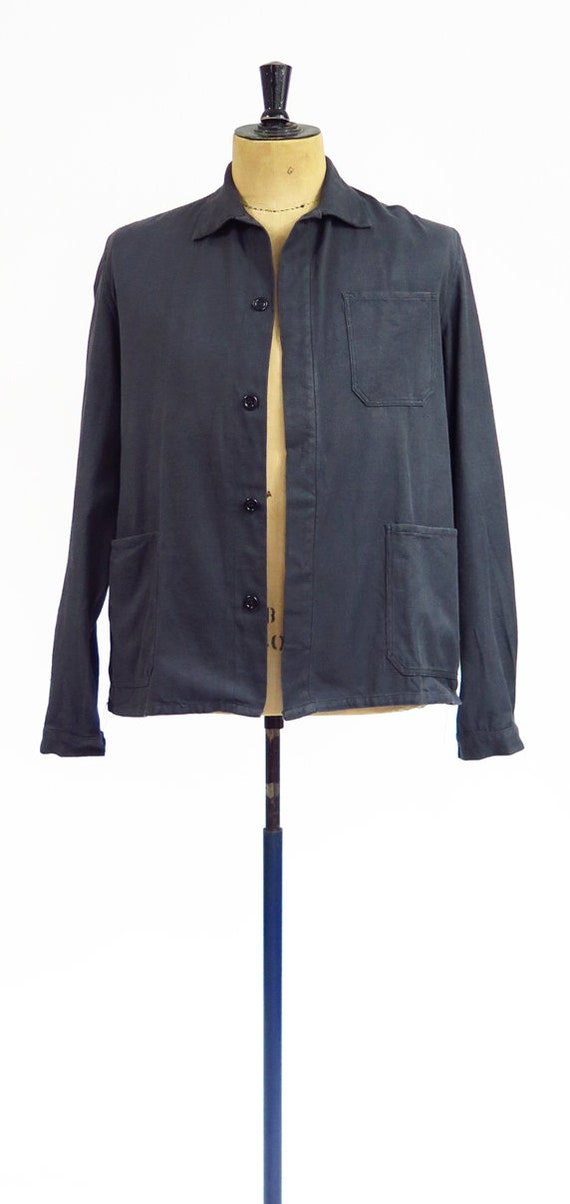 Original Vintage 1950s French Workwear Jacket - image 5