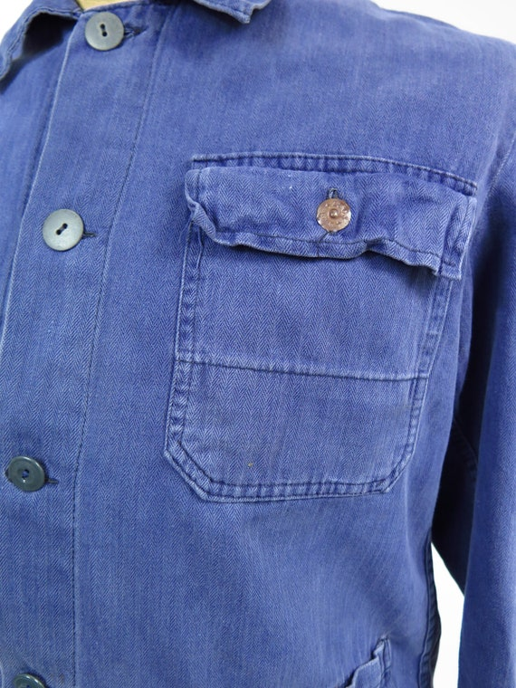 Original Vintage 1950s French Workwear Jacket - image 7